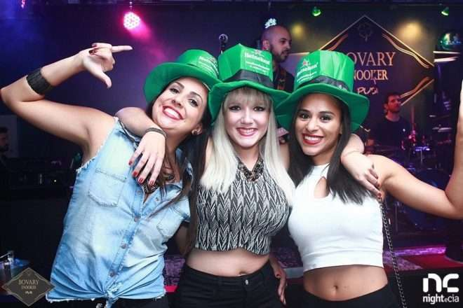 Festa de St. Patrick's Day agita o Bovary Snooker Pub BC 1