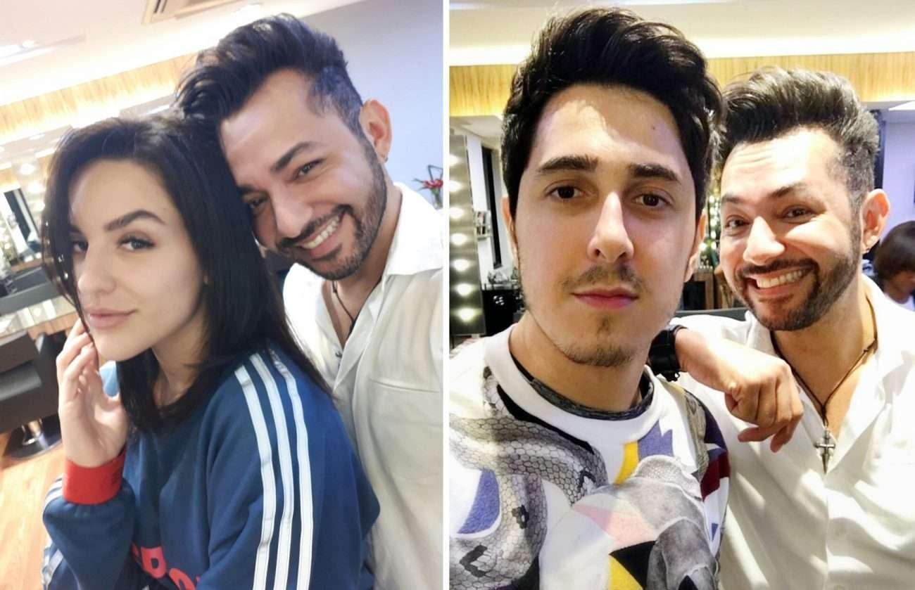 Hair Stylist Nandho Brandão cuida das madeixas dos Youtubers Kéfera e Felipe Castanhari 1
