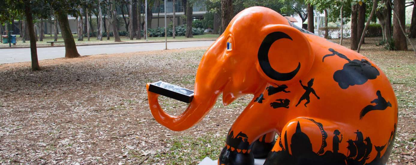 Amazon.com.br cria E-lê-fante para a Elephant Parade em São Paulo 1
