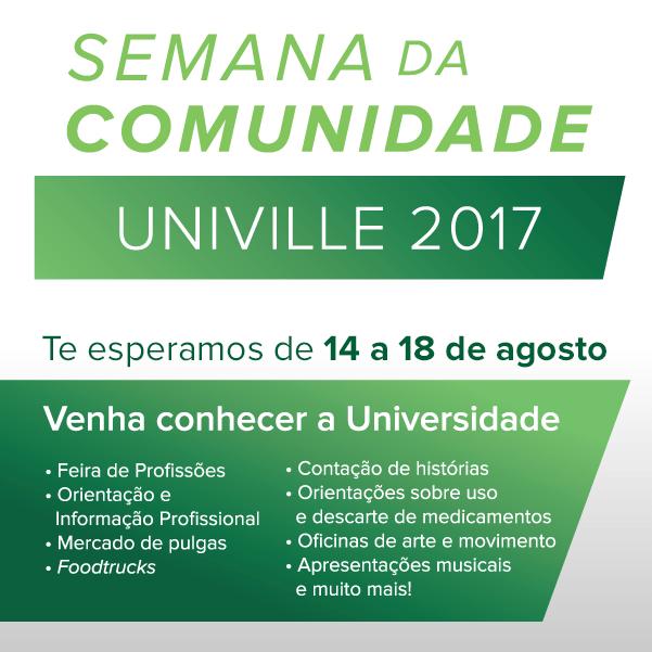 SEMANA DA COMUNIDADE NA UNIVILLE
