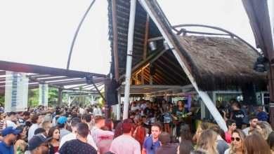 serena, festa, clube, praia