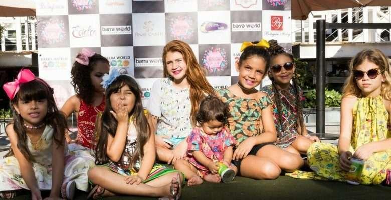 Desfile beneficente que reuniu alguns artistas mirins e mini blogueiros no Barra World Shopping - Fotos: Camila Mendes
