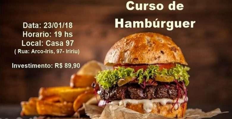 Curso de Hambúrguer da Casa 97 - Flyer divulgação