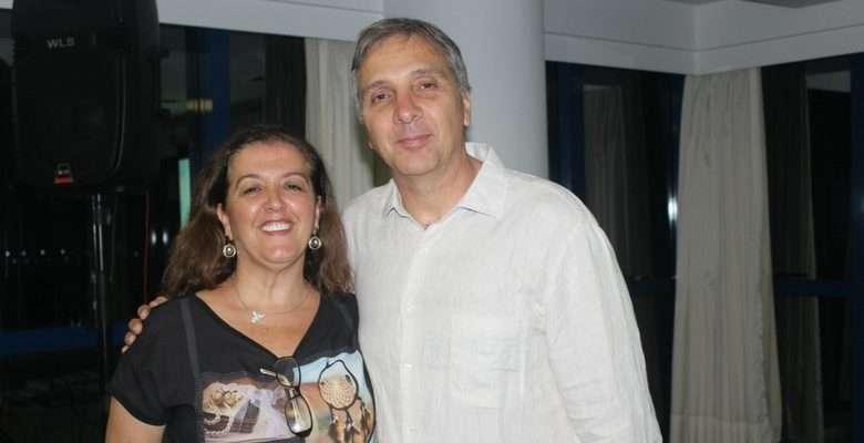 A nova presidente Ana Maria dos Santos com Francisco Barão - Fotos: Roberta Watzko