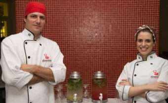 Chef Eder Gitte e Fernanda Volver Gitte - Foto: Donantonia