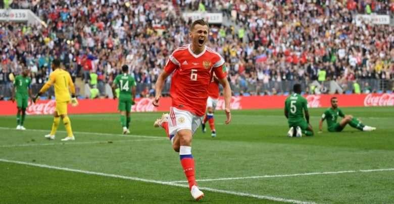 Rússia dá show de gols contra a Arábia Saudita na estreia da Copa do Mundo 1