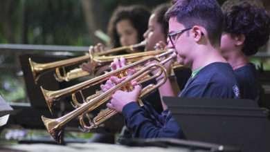 Big Band Infanto-Juvenil do Guri traz repertório com grandes nomes do jazz – Foto: Roberta Borges.