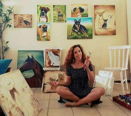 Exposição de Pinturas de Pets no Floripa Shopping