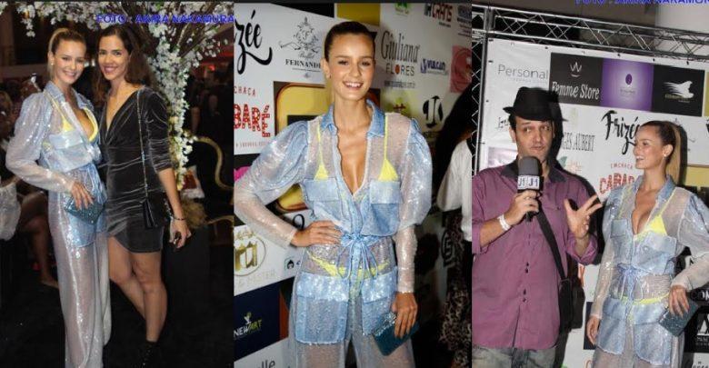 Fernanda Di Olive marca presença como uma das celebridades da Festa de 19 anos do TV Fama 1
