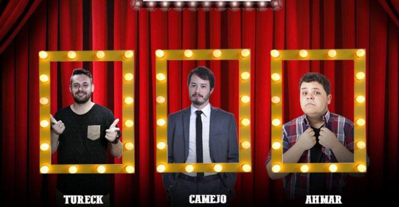 Victor Camejo comanda stand-up com mais dois comediantes