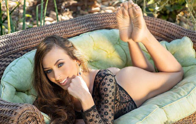 A gaúcha de olhos azuis Fernanda Bauer é a Bella da Semana 1