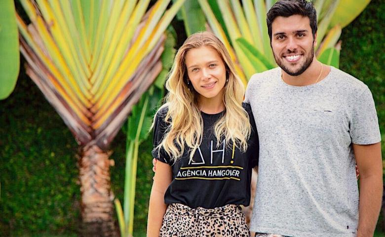 Eduardo Vespa, idealizador e fundador da AH! ao lado de sua irmã Stephanie Vespa, sócia da Hangover AH!