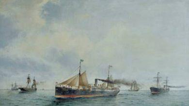 Usando imagens importantes, modelos de navios, documentos e outros artefatos do arquivo da Hamburg Süd