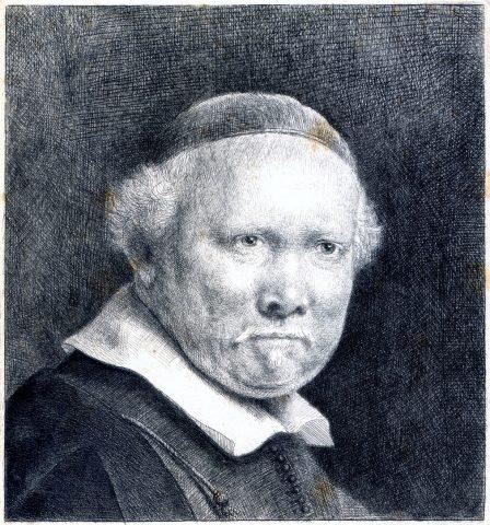 Retrato  do Caligrafista Lieven Van Coppenol -  Rembrandt H. van Rijn - Coleção Fundação Ema Klabin-Foto divulgação.