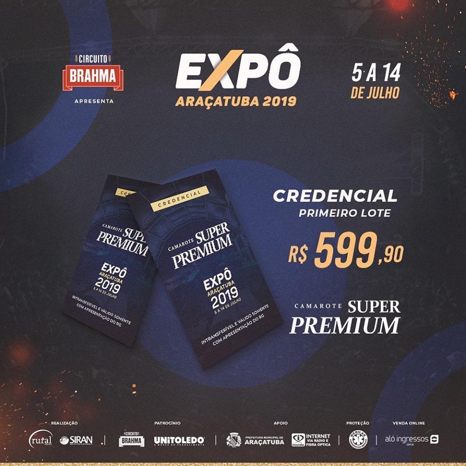 A Expô Araçatuba lançou a sua grade de shows 2019 3