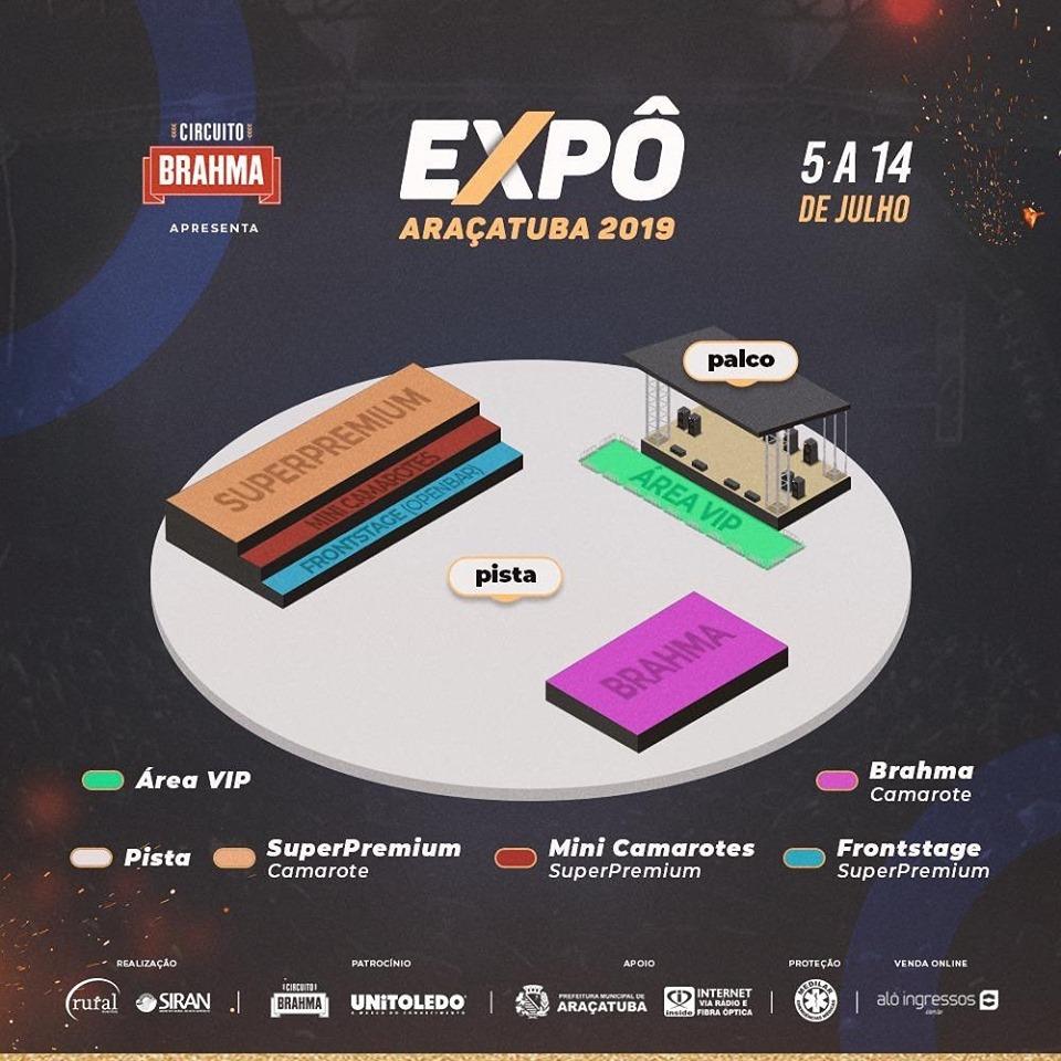 A Expô Araçatuba lançou a sua grade de shows 2019 2