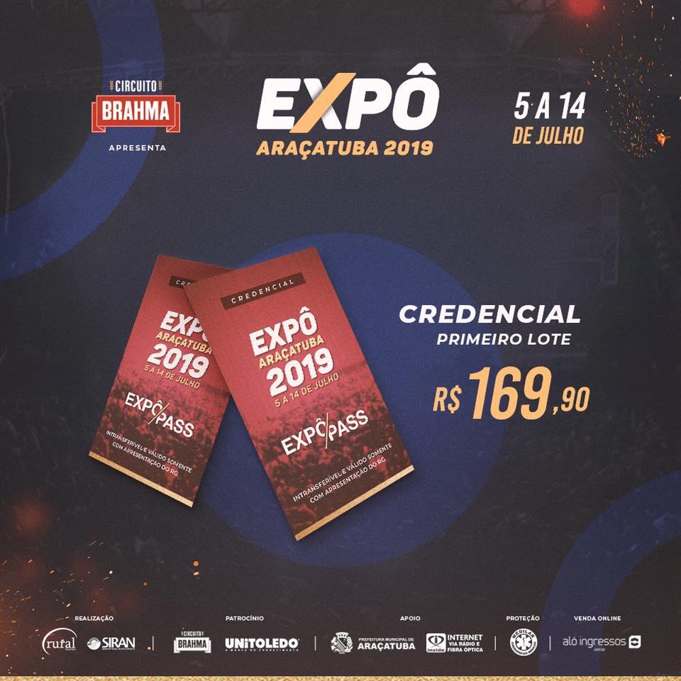A Expô Araçatuba lançou a sua grade de shows 2019 4