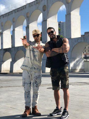 O sertanejo Igor Galdino e Mc Koringa gravam vídeo clipe nos arcos da lapa no Rio de Janeiro. 3