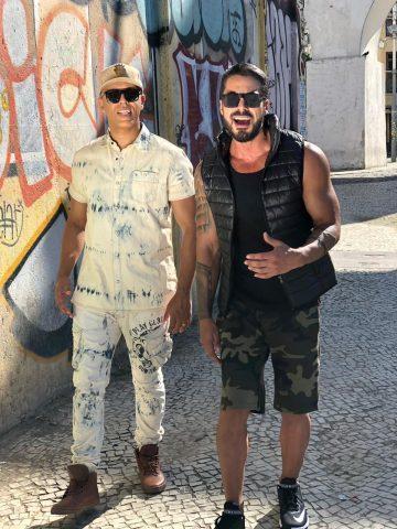 O sertanejo Igor Galdino e Mc Koringa gravam vídeo clipe nos arcos da lapa no Rio de Janeiro. 2