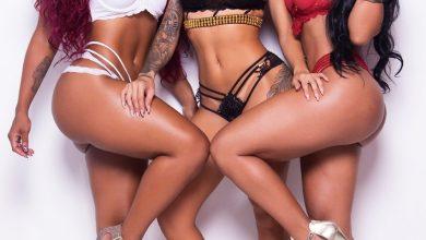 Cláudia Raia inspira nome de grupo de funk As Pantheras que posaram para um ensaio de lingerie no Rio 2