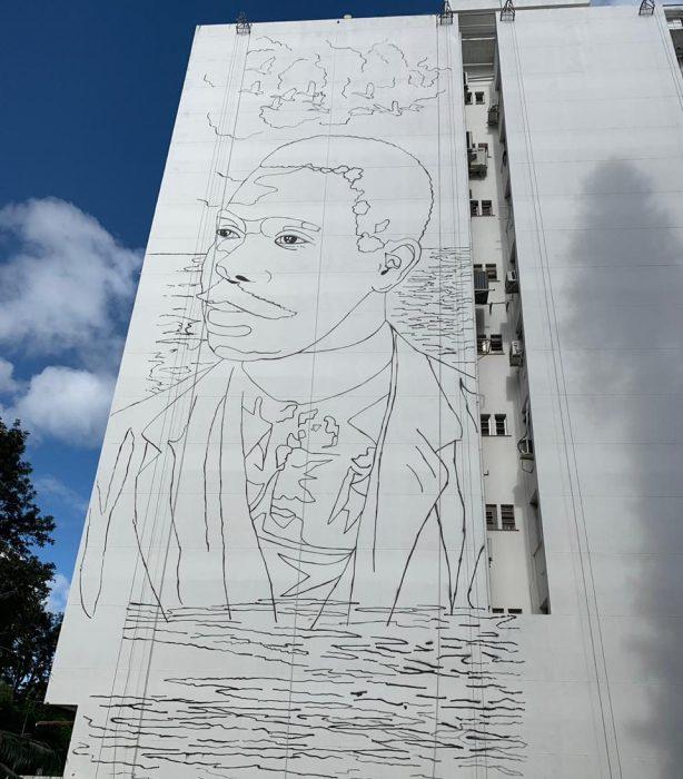 Mural homenageia Cruz e Sousa no Centro de Florianópolis 2