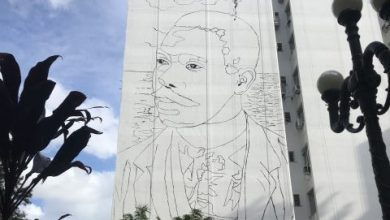 Mural homenageia Cruz e Sousa no Centro de Florianópolis 5