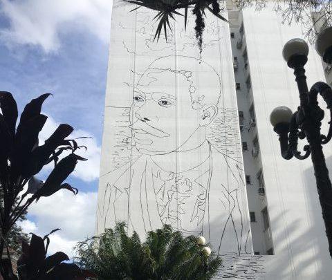 Mural homenageia Cruz e Sousa no Centro de Florianópolis 1
