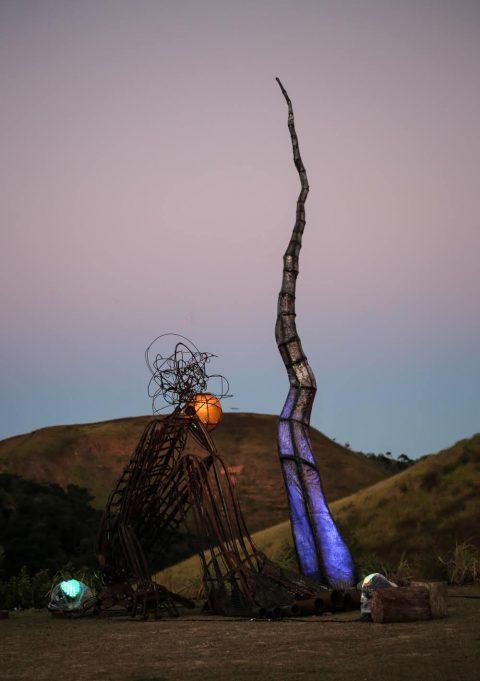 Instalação luminosa na Festa das Luzes Lorena Zschaber