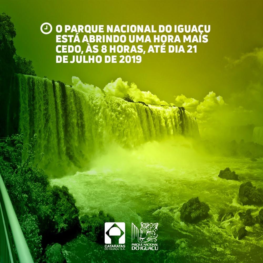 Parque Nacional do Iguaçu abrirá mais cedo para atender turistas