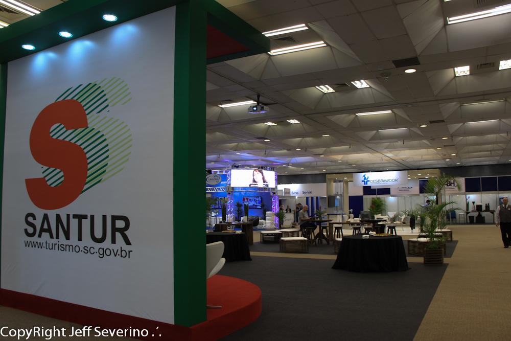 O espaço da Santur recebeu apresentações