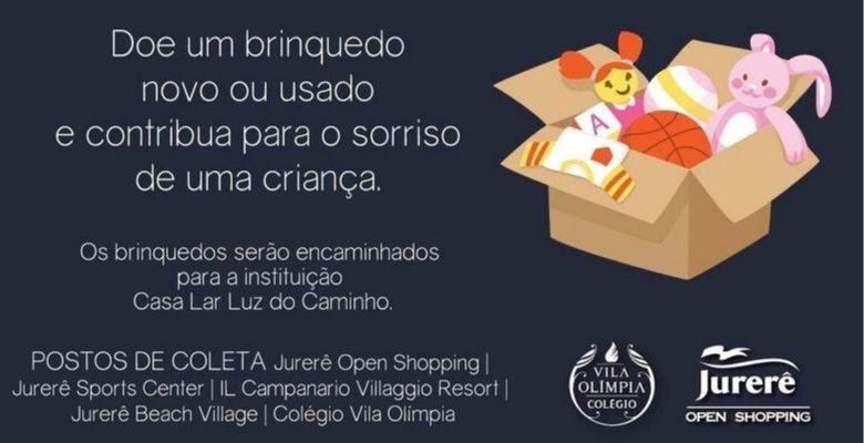 campanha, brinquedo, jurere open shopping, shopping, criancas, casa, lar, carentes, doacoes, outubro, dia das criancas, mes,