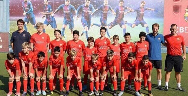 clinica, futebol, barcelona, barca, intercambio, jovens, criancas, espanha, futebol,