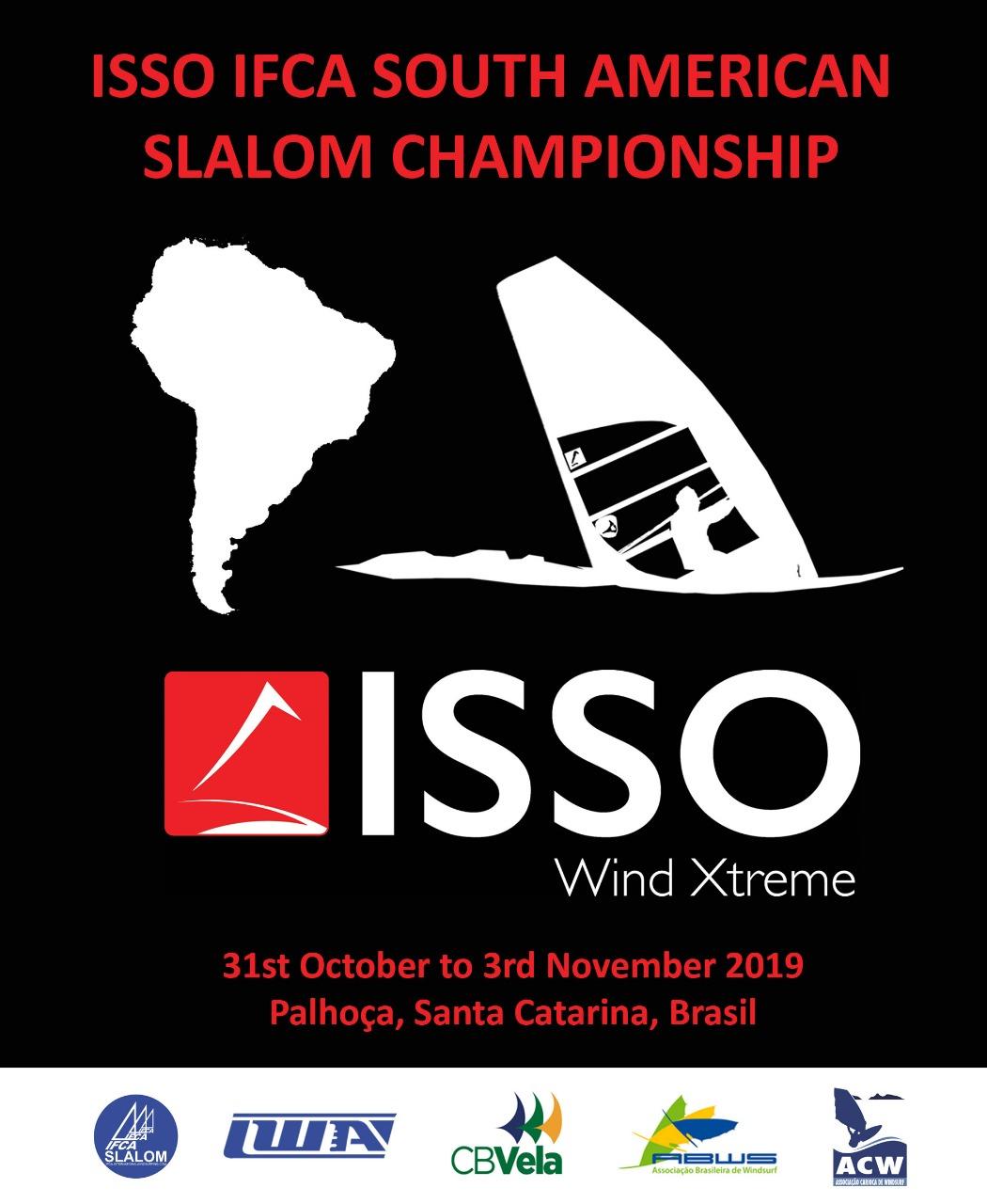 Mais de 30 velejadores de quatro países já estão inscritos para as disputas do 2019 ISSO IFCA South American Slalom Championship