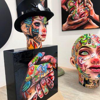 A famosa artista plástica Xana