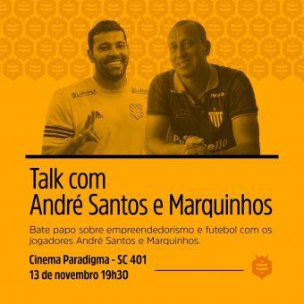 Marquinhos e André Santos participam de bate papo sobre futebol e empreendedorismo