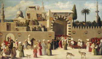 A recepção do embaixador de Damasco, 1511, Louvre- Foto divulgação.